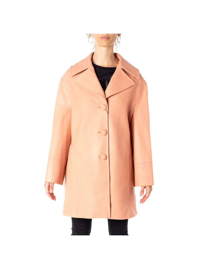 Blumarine Virgin Wool Blend Coat - SALMON