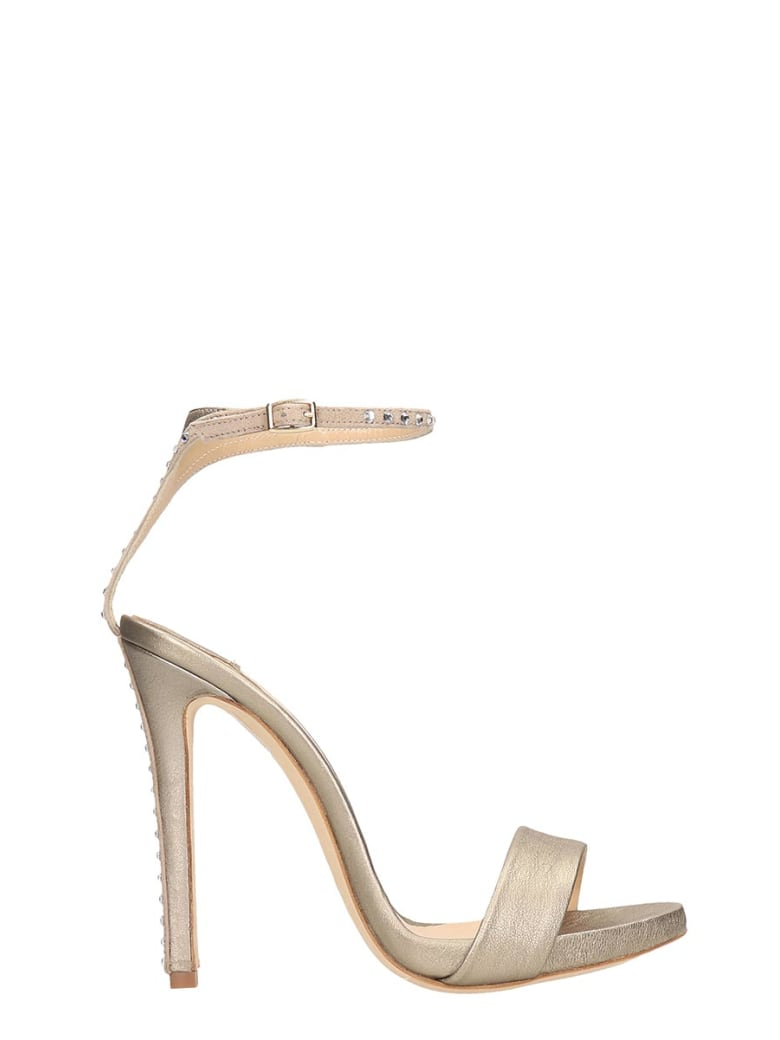The Seller Gold Leather Sandals - gold