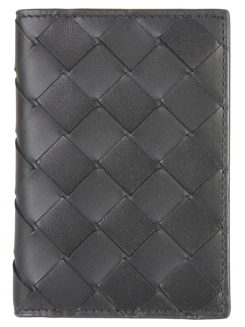 Bottega Veneta Woven Wallet - Black/Silver