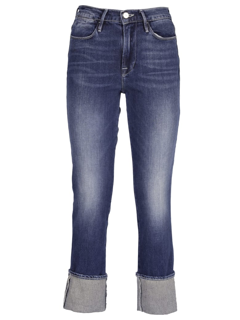 Frame Cropped Jeans - Blue