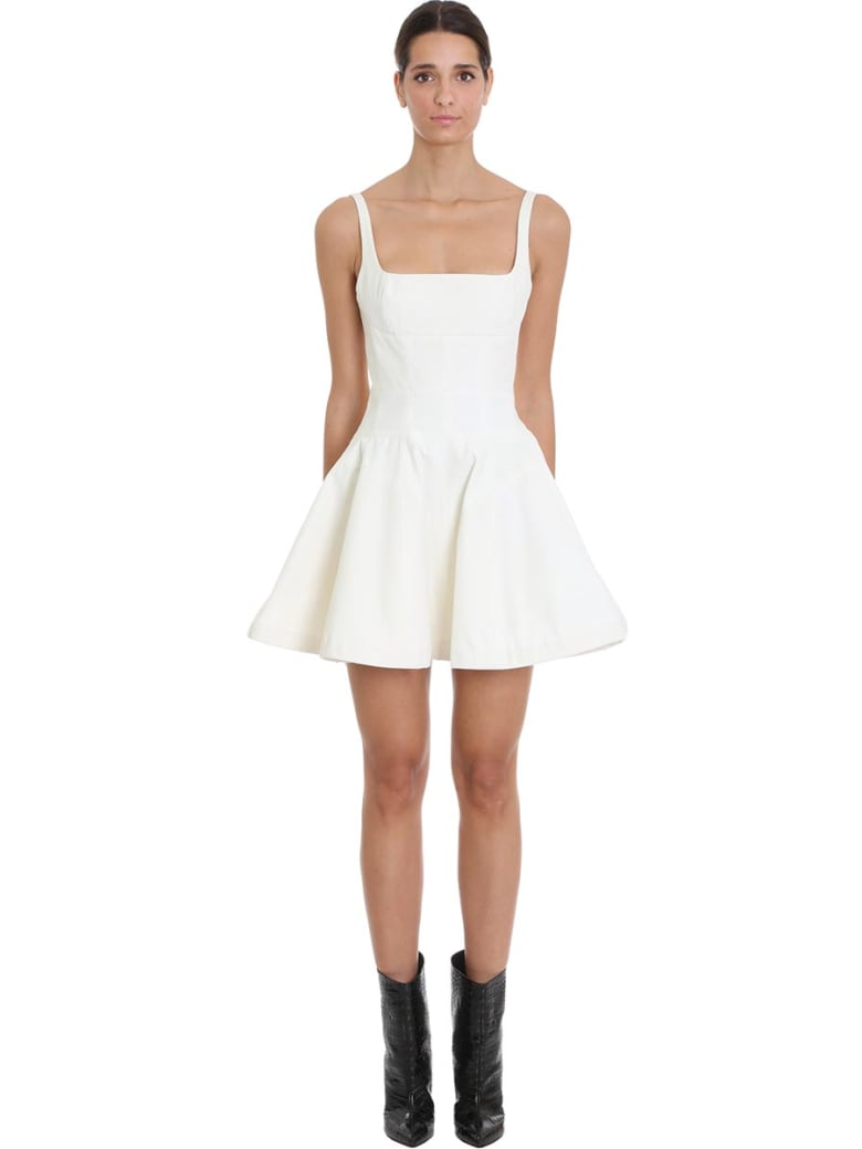 Giovanni Bedin Dress In White Cotton - white