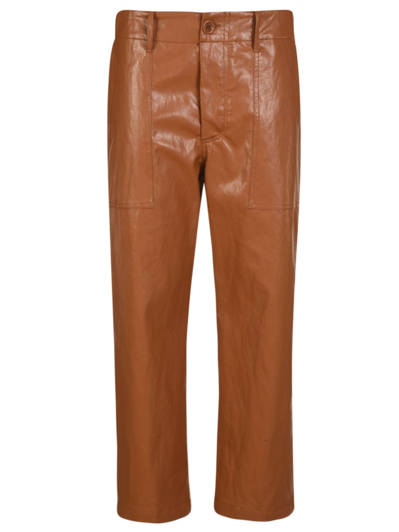 Jejia Straight Trousers - Brown