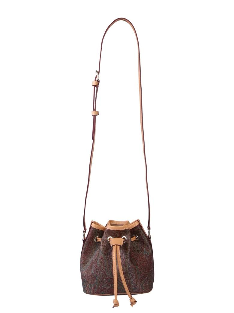 Etro Mini Paisley Classic Bucket Bag - MULTICOLOR