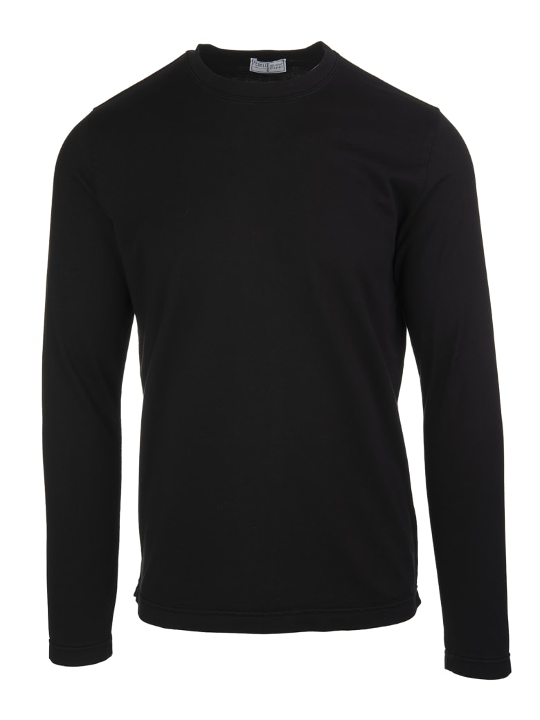 Fedeli Black Man Round-neck T-shirt