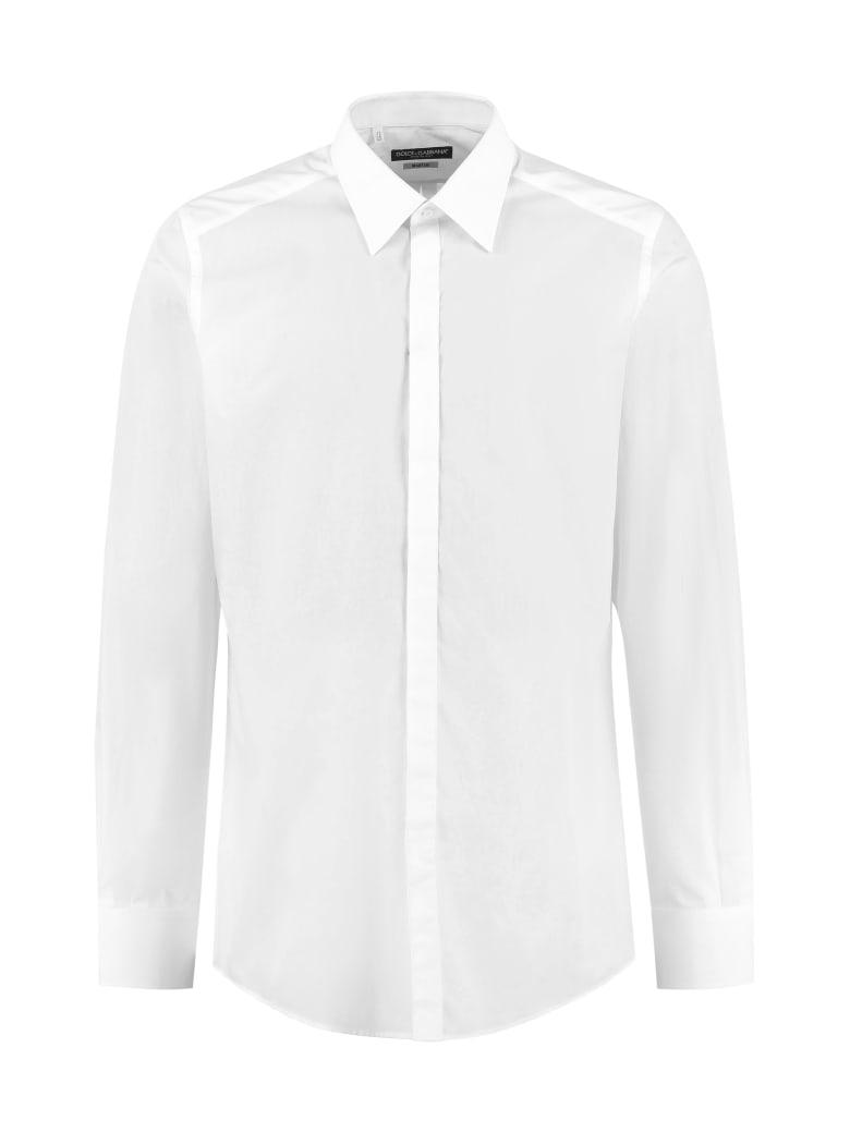 Dolce & Gabbana Cotton Poplin Shirt - White