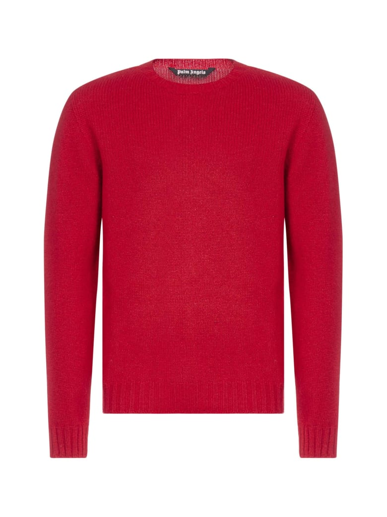 Palm Angels Sweater - Red white