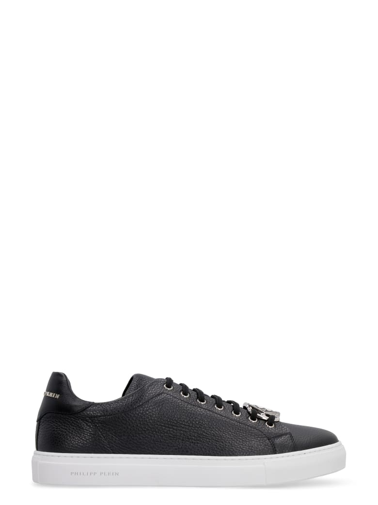 Philipp Plein Leather Low-top Sneakers - black