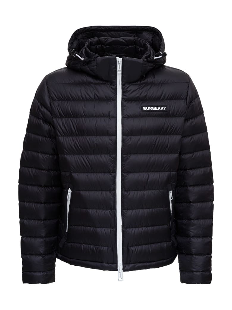 Burberry Barnet Down Jacket In Padded And Quilted Nylon With Logo Patch - Black