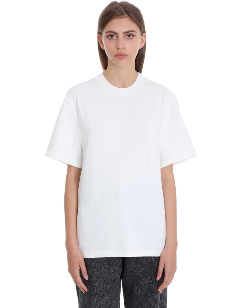 T by Alexander Wang T-shirt In White Cotton - white