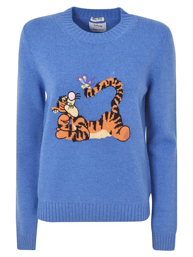 Miu Miu Tiger Sweater - Blu