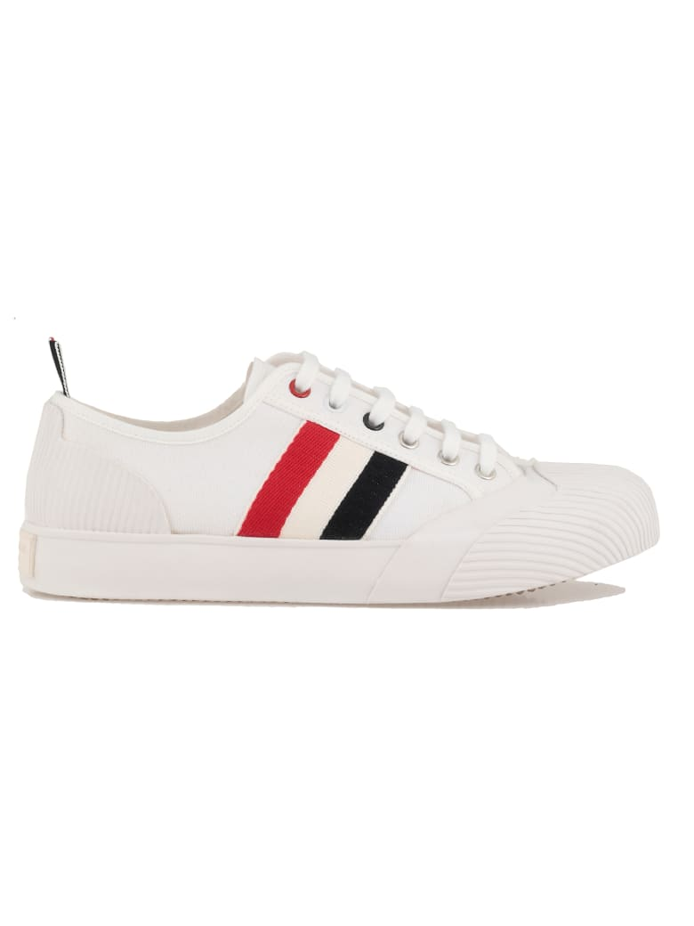 Thom Browne Lo Top Vulcanized Trainer - WHITE
