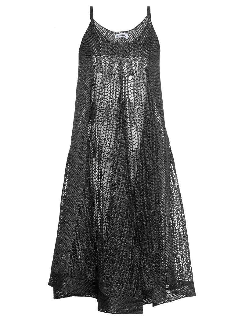 Jil Sander Openworked Dress - BLACK