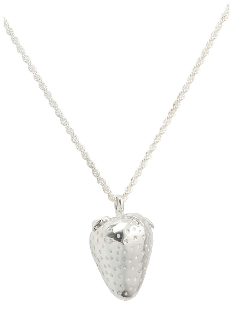AMBUSH Strawberry Charm Necklace - SILVER