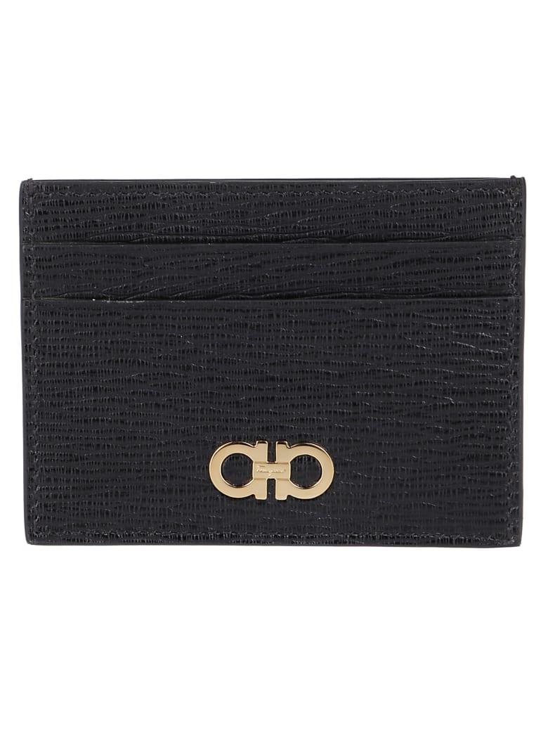 Salvatore Ferragamo Logo Cardholder - Black
