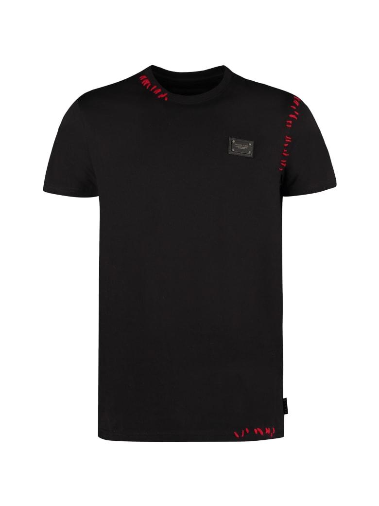 Philipp Plein Cotton Crew-neck T-shirt - black
