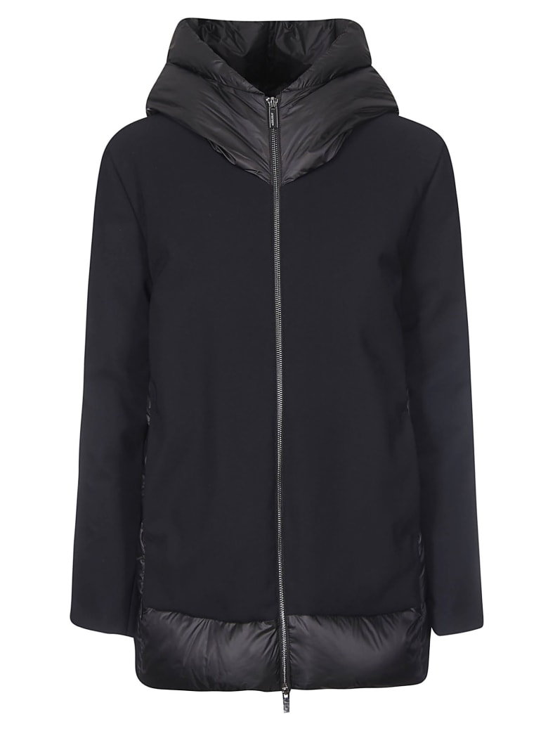 RRD - Roberto Ricci Design Zipped Large Hood Back Padded Detail Parka - Nero