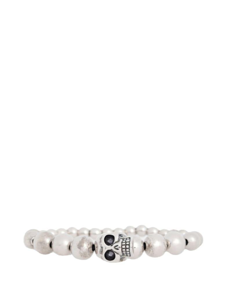 Alexander McQueen Skull Bracelet Ball - Silver