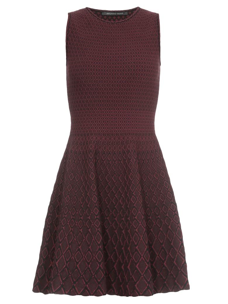 Antonino Valenti Orsola Dress - AMARANTH-BLACK