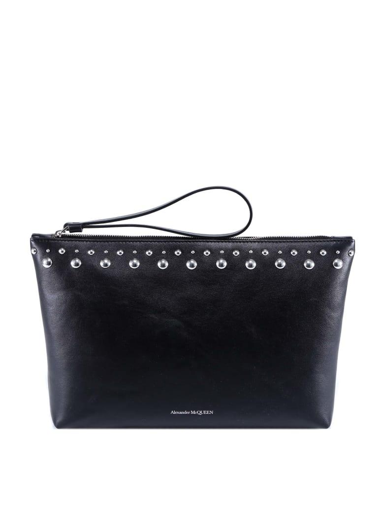 Alexander McQueen Zip Pouch Clutch - Black