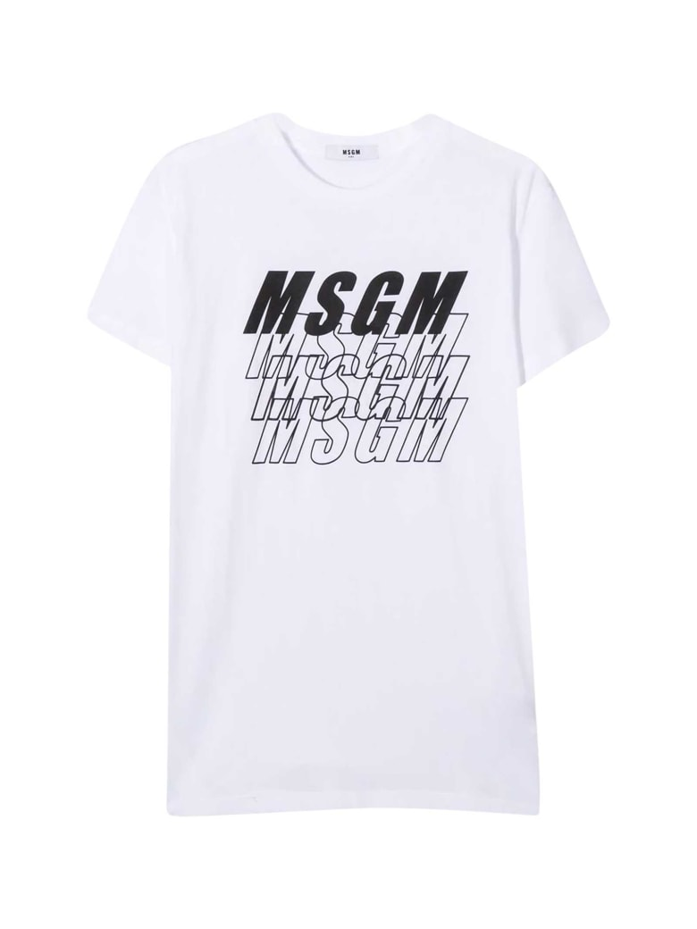 MSGM White T-shirt Teen - Bianco