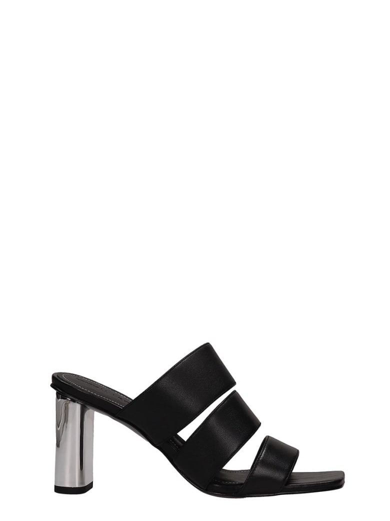 Kendall + Kylie Black Leather Leila Sandals - black