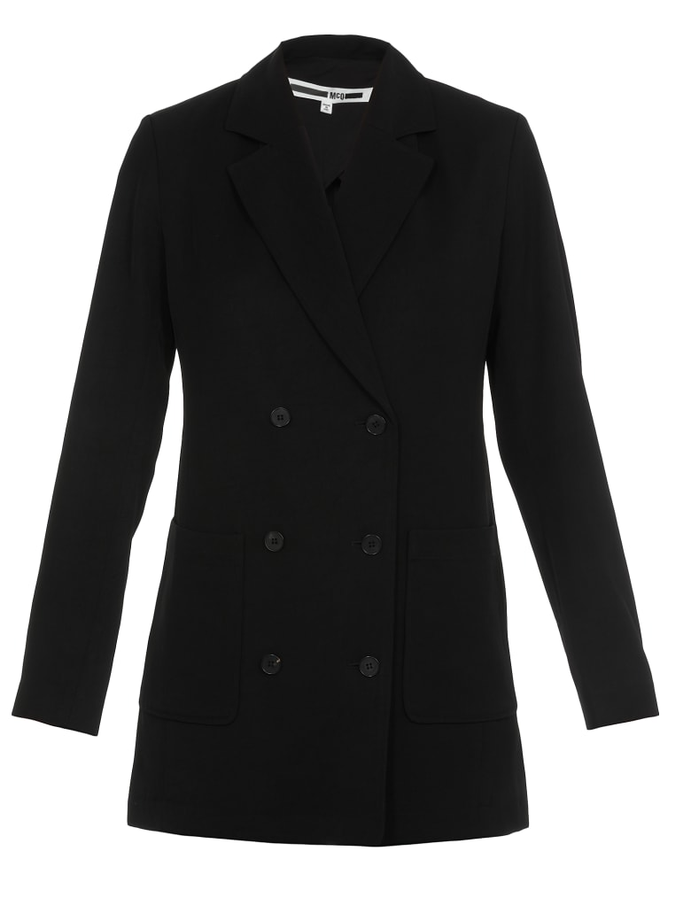McQ Alexander McQueen Double Breasted Jacket - BLACK