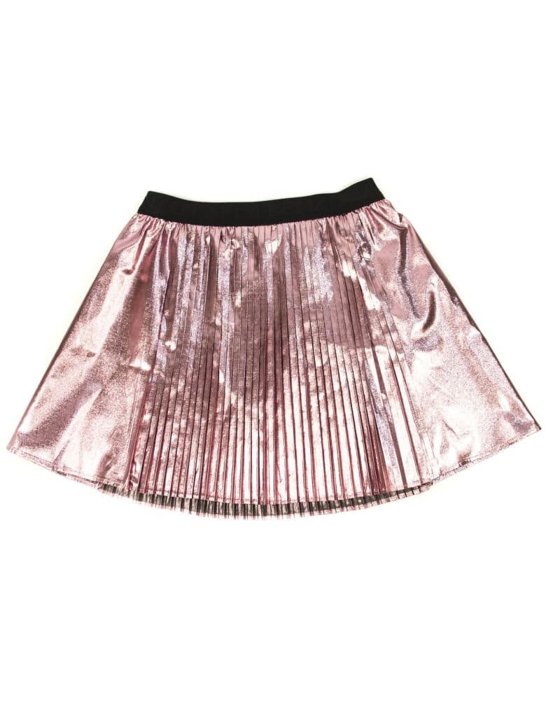 Kenzo Pink Metallic Pleated Skirt - Rosa