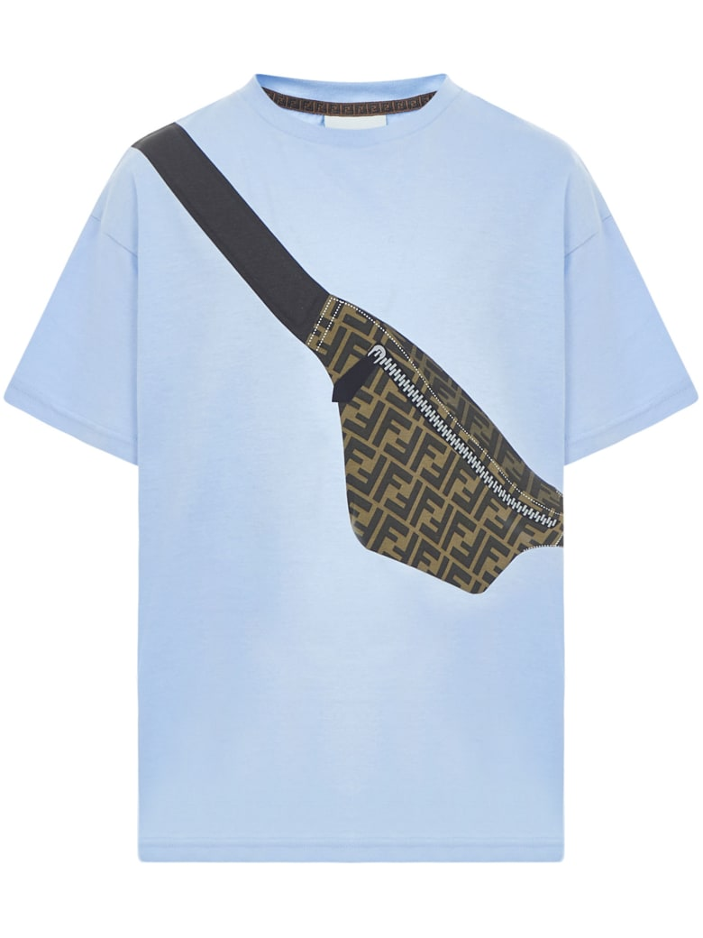 Fendi Kids T-shirt - Light blue