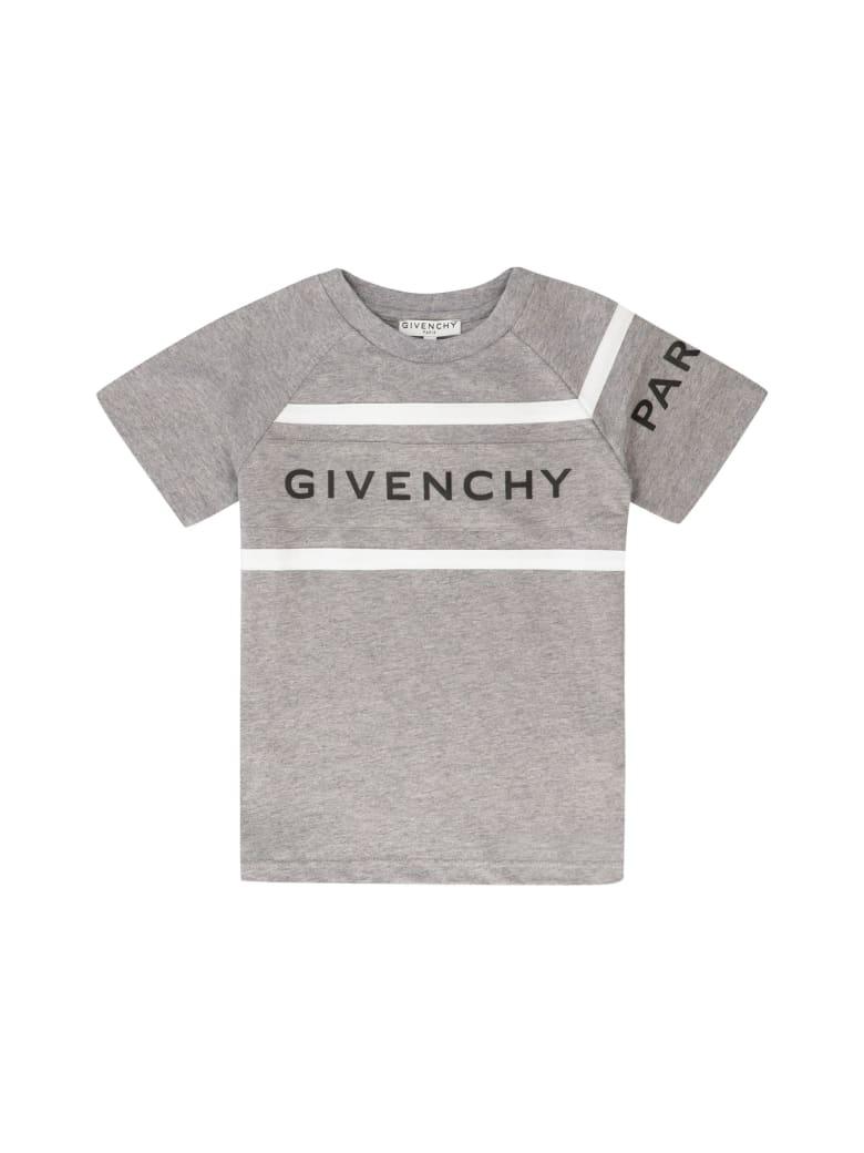 Givenchy Logo Cotton T-shirt - grey