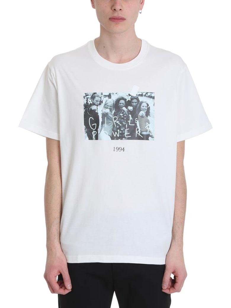 Throwback Spice White Cotton T-shirt - white