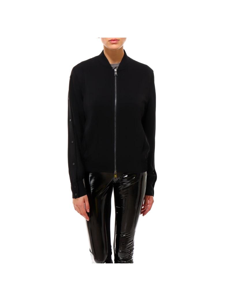 Karl Lagerfeld Bomber With Snap Sleeves Jacket - Black