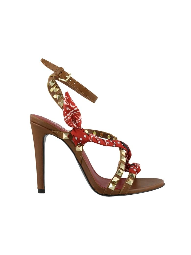 Ash Geisha Pump Sandals - Brown