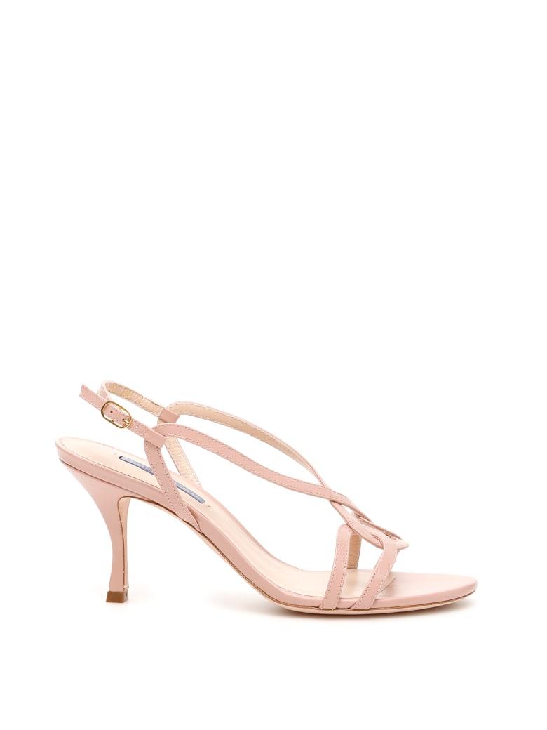 Stuart Weitzman Clarice 75 Sandals - BUFF BLUSH (Pink)