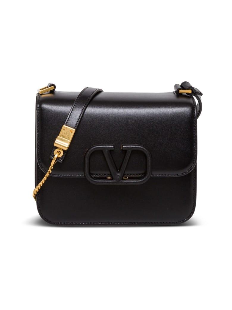 Valentino Garavani Vsling Crossbody Bag In Leather - Black