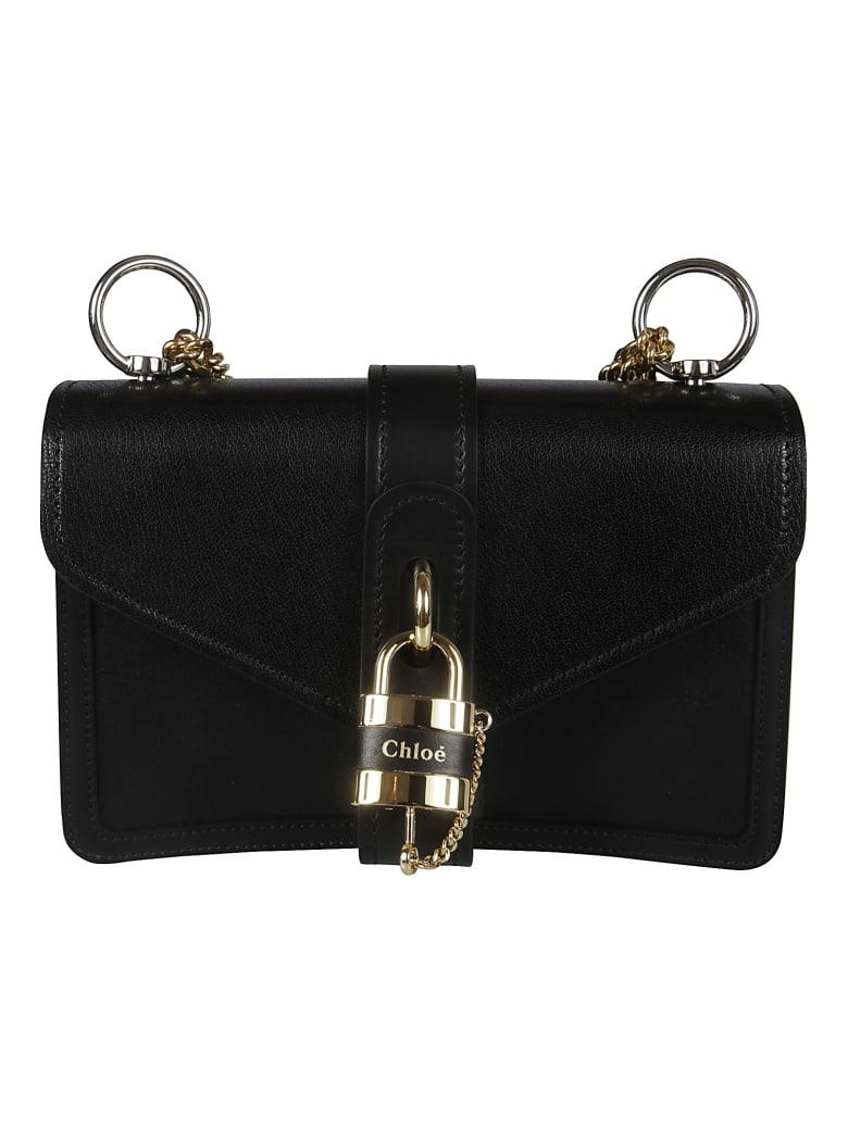 Chloé Locked Detail Shoulder Bag - Black