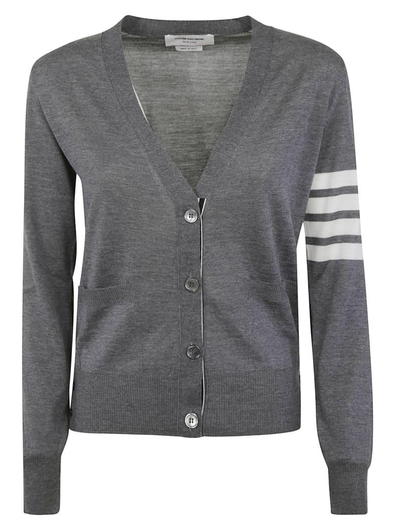 Thom Browne Relaxed Fit V-neck Cardigan - Medium Grey