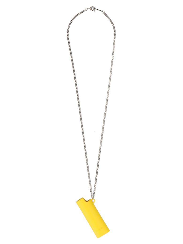 AMBUSH 'lighter Case' Necklace - Giallo