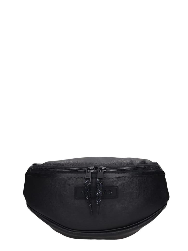 Ami Alexandre Mattiussi Waist Bag In Black Leather - black