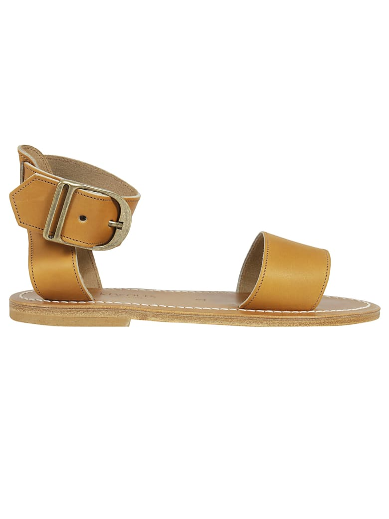 K.Jacques Carbet Buckle Sandals - Brown