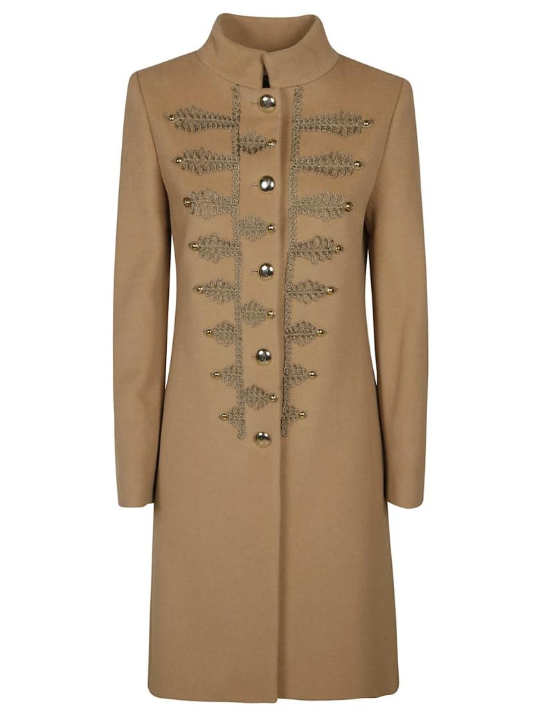 Blumarine Embroidered Coat - Camel