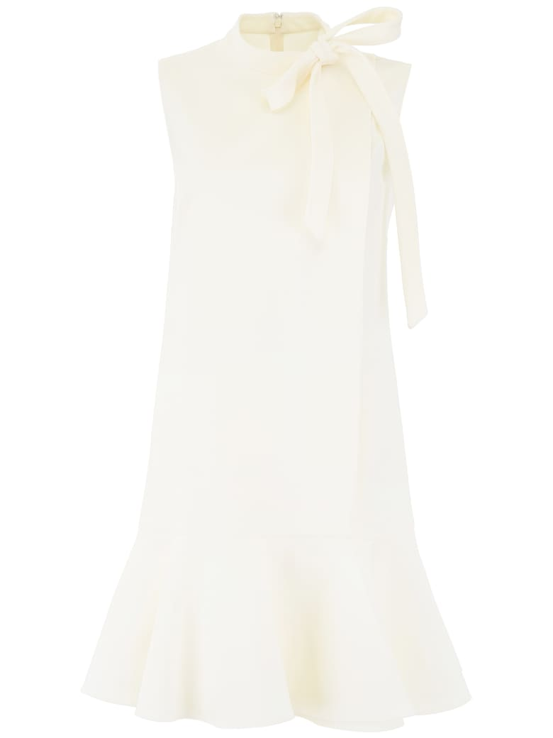 Valentino Ruffled Mini Dress - AVORIO (White)
