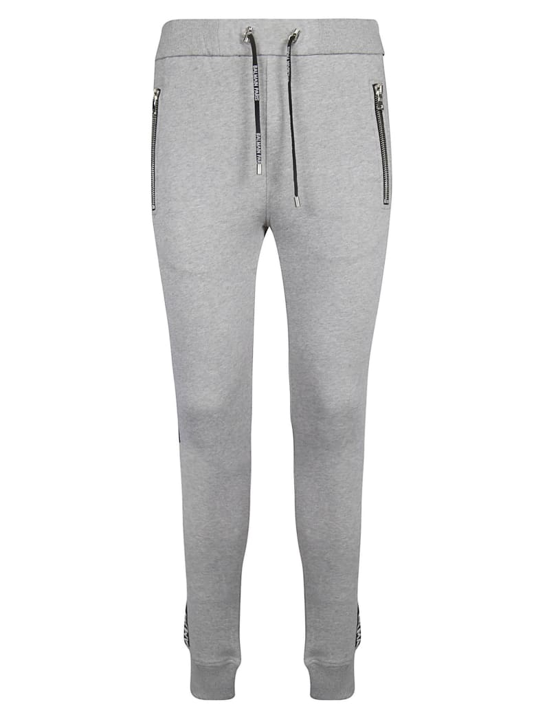 Balmain Logo Band Track Pants - Grey/Black
