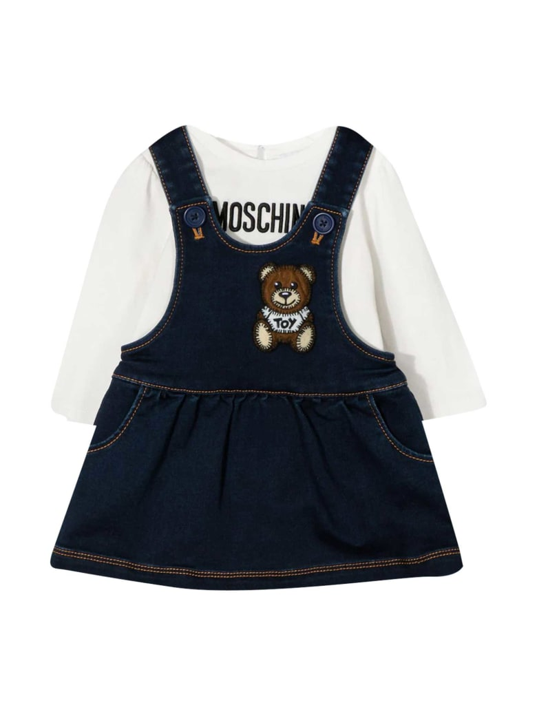 Moschino Teddy Bear Blue Dress - Blu
