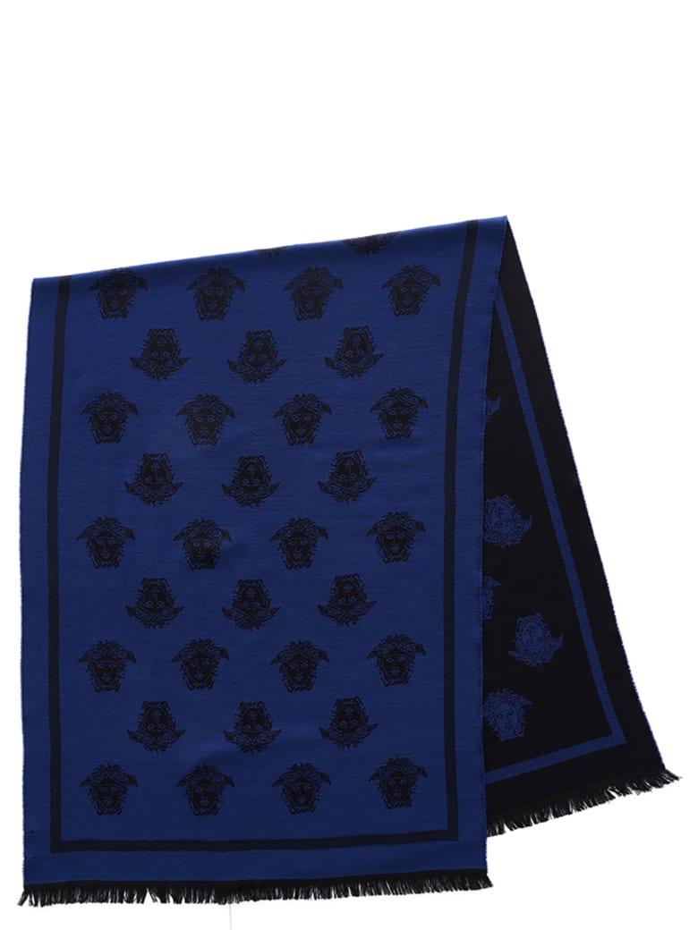 Versace 'medusa' Scarf - Blue