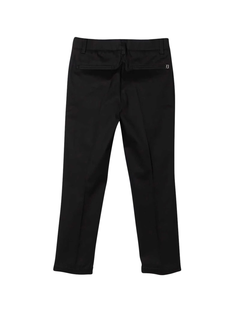 Dondup Black Chino Trousers - Unica