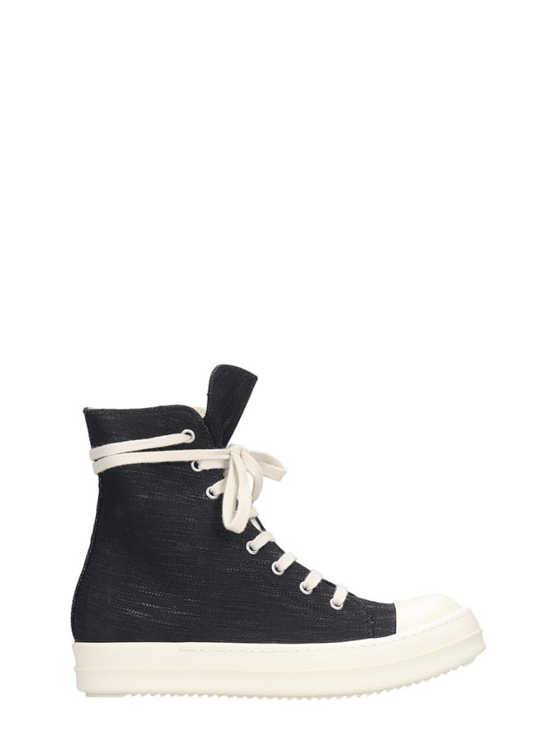 DRKSHDW Sneaks Sneakers In Black Denim - black
