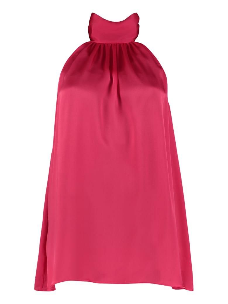 Zimmermann Scarf Collar Silk Blouse - Fuchsia