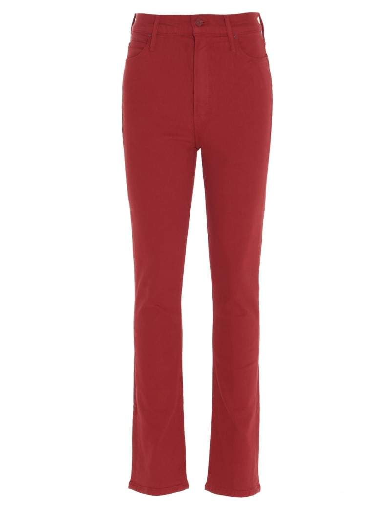 Mother 'the Dazzler Ankle' Jeans - Red