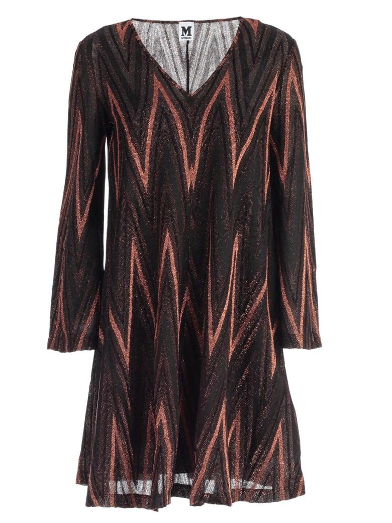 M Missoni Dress L/s Jersey Lurex - A Bronzo
