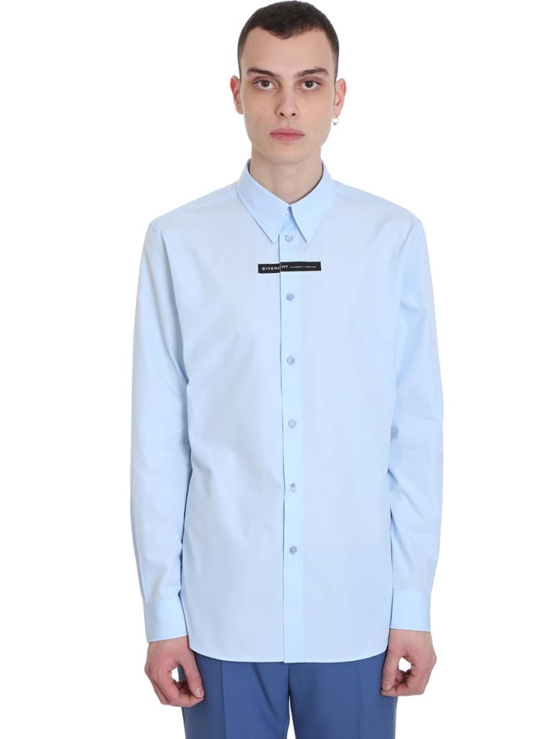 Givenchy Shirt In Cyan Cotton - Light blue